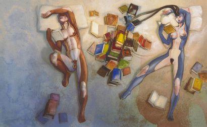 Silvio CADELO (né en 1948) Untitled Mixed media on paper. 31,4x51 cm.