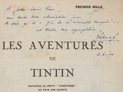Tintin N&B - Au pays des Soviets + dédicace:...