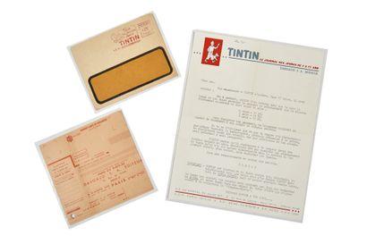 Tintin - Documents de réabonnement: Ensemble...