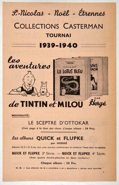 Catalogue Etrennes Casterman 1939-1940:...