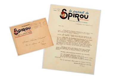 Spirou - Lettre de 1947: Ancien courrier...