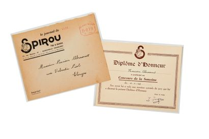 Spirou - Diplôme d'honneur: Diplôme du concours...