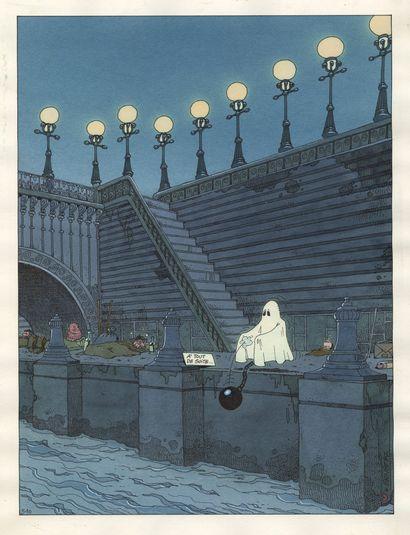 Sergé ERNST (né en 1954) Clin d'oeil n° 510 Encres de couleur sur papier. Signé et...