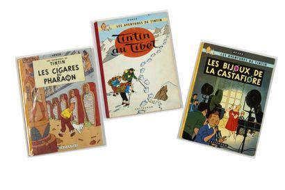 Tintin - Ensemble de 3 albums: Cigares du...
