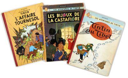 Tintin - Ensemble de 3 albums: Au tibet...