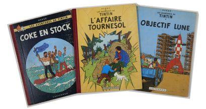 Tintin - Ensemble de 3 albums: Coke en stock,...