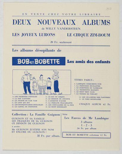 Bob et Bobette - Feuillet publicitaire de...