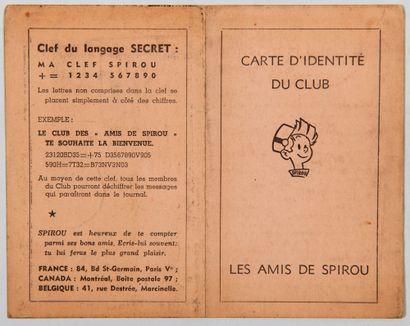 Club Spirou - Carte d'identité: Superbe...