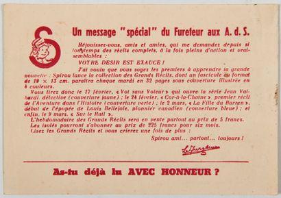 Spirou - Message spécial du fureteur aux...