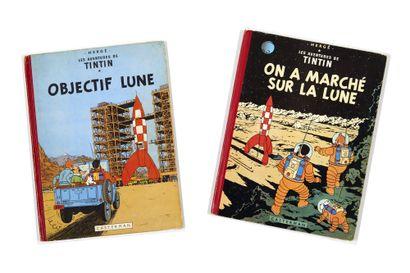Tintin - Ensemble de 2 albums: Objectif...