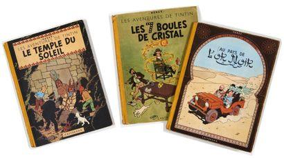 Tintin - Ensemble de 3 albums: Temple du...