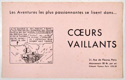 Coeurs vaillants - Ancien buvard: Rare document...