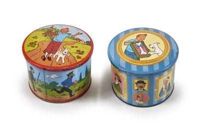 Tintin - Ensemble de 2 boîtes en métal:...