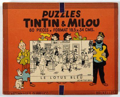 Tintin - Puzzle Dubreucq Le lotus Bleu:...