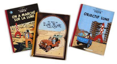 Tintin - Ensemble de 3 albums: Au pays de...