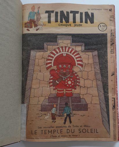 Tintin fascicules 1946: Reliure amateur...
