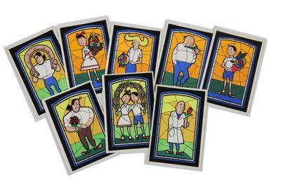 Bob et Bobette - 8 cartes flockées: Ensemble...