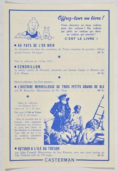 Publicité Casterman 1950: Joli document...