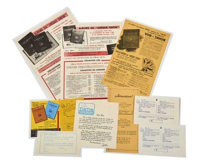 Tintin - Chromos: Ensemble de 9 documents...