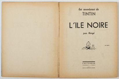 Tintin N&B - L'Ile noire: Intérieur non...