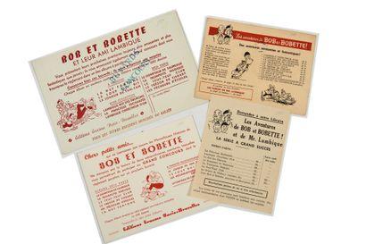 Bob et Bobette - Ensemble de 4 publicités...