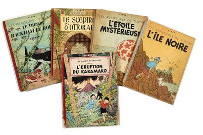Tintin - Ensemble de 5 albums: Etoile (B1,...