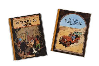 Tintin - Ensemble de 2 albums: Temple du...