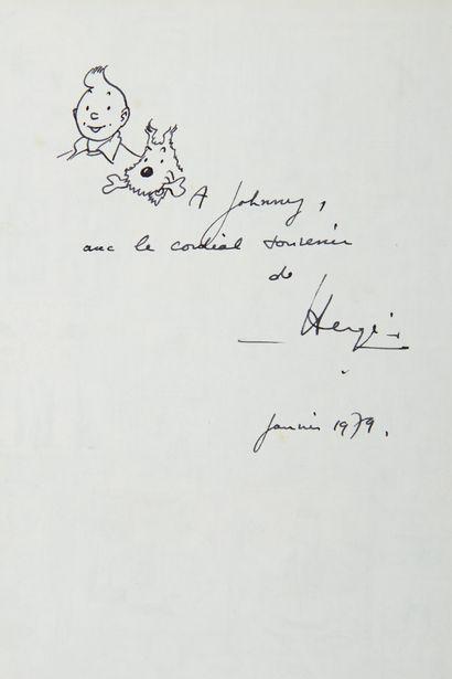 Hergé - dédicace: