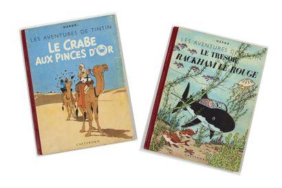 Tintin - Ensemble de 2 albums: Crabe (B1,...