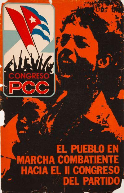 PROPAGANDE CUBAINE. Congreso PCC. El pueblo...