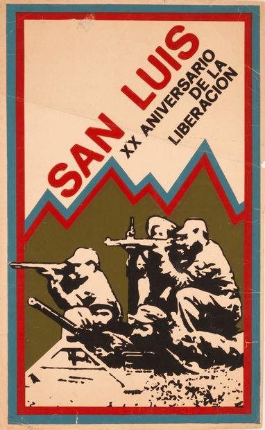 PROPAGANDE CUBAINE. San Luis. XX Aniversario...