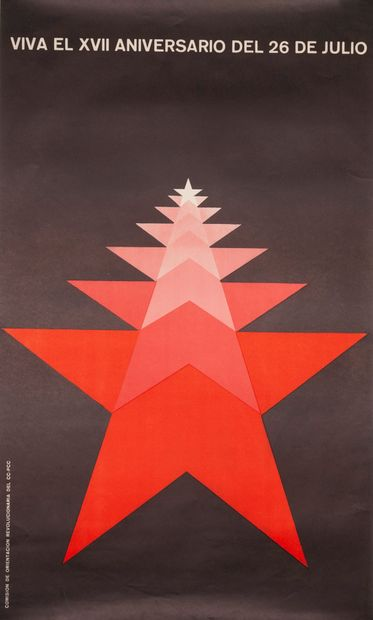 PROPAGANDE CUBAINE. Viva el XVII Aniversario...