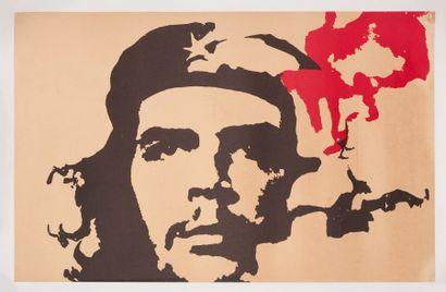 ANONYME. Che Guevara. Sérigraphie en noir...