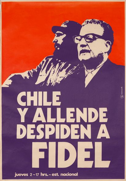 PROPAGANDE CHILIENNE. Chile y Allende despiden...