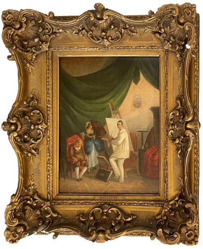 Adolphe WILLETTE (1857-1926)  Le peintre...
