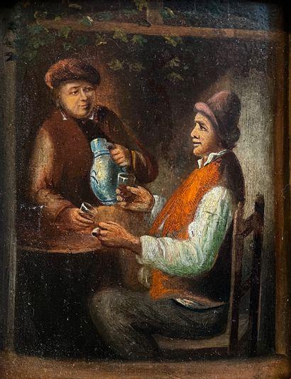 Dans le goût hollandais du XVIIe siècle  Scène...