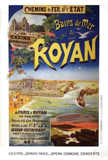 Bains de Mer de Royan Chemins de Fer de l'Etat....