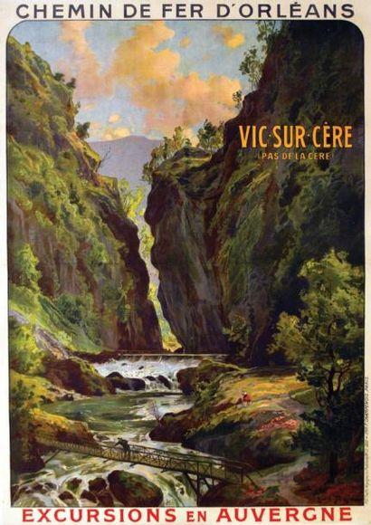TAUZIN LOUIS Vic Sur Serre vers 1930 Champenois Paris Aff. Entoillée. B.E. B + 104...