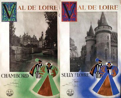 Lot de 2 Val de Loire Chambord et Sully sur...