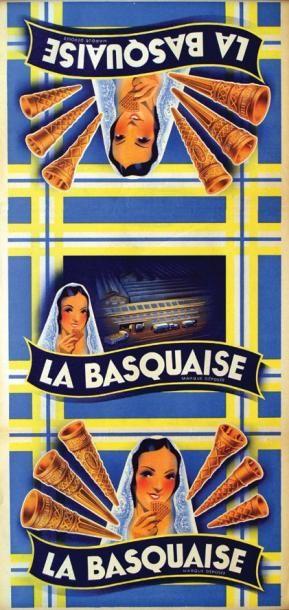La Basquaise Aff. N.E. B.E. B + Plis. / Folds....