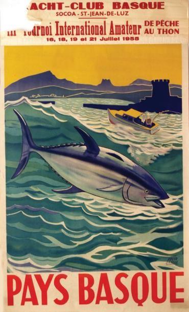 GARCIA JULIO Pays Basque Socoa - St Jean de Luz. 1955. Aff. N.E. B.E. B - Manques....