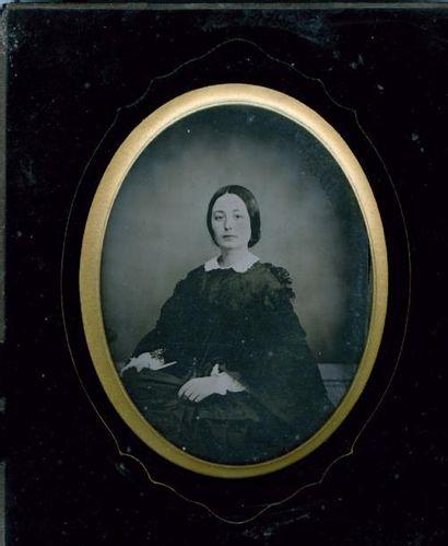 Portrait de femme, c. 1860 Ambrotype dans...