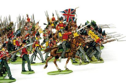 1er Empire. Angleterre. Infanterie en carré...