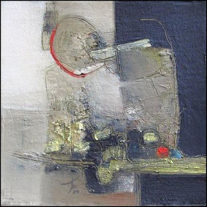 TELL Christian Chatis. Huile, pigment, liant et médium vénitien sur toile marouflée...