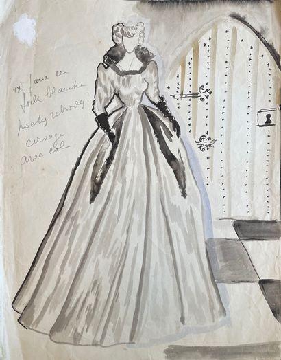 16 dessins de Madeleine CHAPSAL pour sa mère...