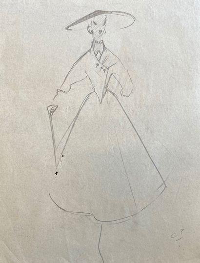 30 dessins de Pierre CARDIN pour Marcelle...