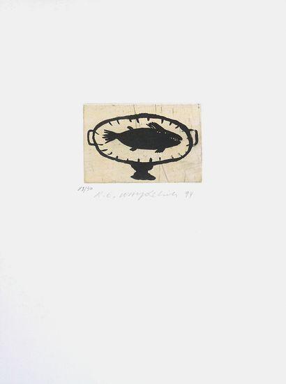 WAYDELICH Raymond Emile Sans titre / Eau-forte en couleurs sur papier / Numéroté...