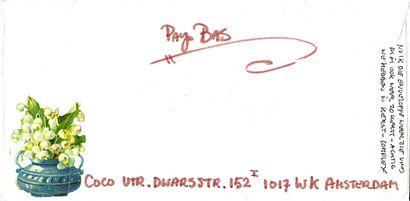 GAERTNER Coco Sans titre / Enveloppe Mail-Art décorée sur les deux faces / Collage...