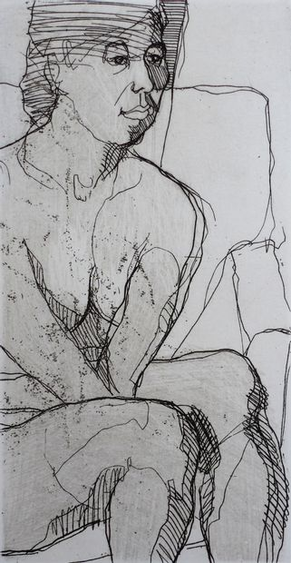 MAIR Kurt Sans titre / Eau-forte en noir et blanc sur papier / Numéroté 10 sur 12...