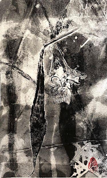 GARNIER-LURASCHI Isabelle Série Herbarium II - 2 / Monotype et impression végétale...
